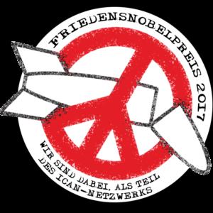 Logo Friedensnobelpreis - wir sind Teil des ICAN-Netzwerks