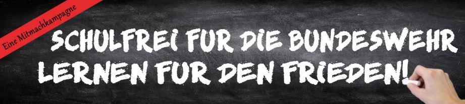 Logo Kampagne Schulfrei für die Bundeswehr - Lernen für den Frieden